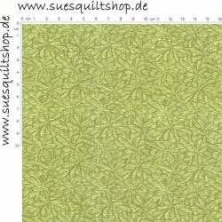 REDUZIERT: RJR Jinny Beyer Palette Fossil Chartreuse grün auf grün >>> Mindestbestellmenge 1 Meter <<<
