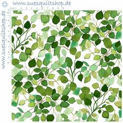 Clothworks Radiance Lacey Leaves grün