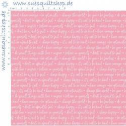 Riley Blake Winifred Pink Script Schrift pink rosa