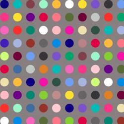 Windham Grey Multi Polka Dot Rückseitenstoff überbreit