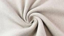 Fleece 100% Baumwolle, 150 cm breit, dunkelbeige