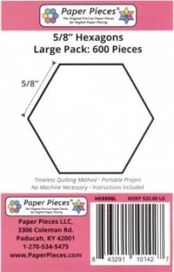 Papierschablonen Hexagons  5/8 inch  ca. 600 stk. Großpackung