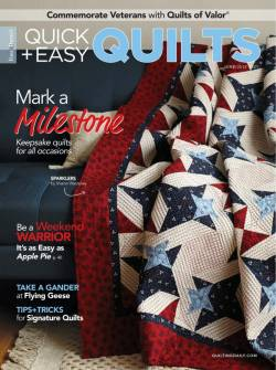 Fons & Porters Quick + Easy Quilts June/July 2021