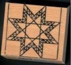 Holzstempel, Feathered Star Motiv ca. 4 x 4 cm groß