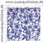 Woodrow Studios Royal Doulton blaue Blumen u. Ranken auf weiss