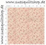 Blue Hill Fabrics Colonial Prints Pink Tiny Floral, Blümchen rosa auf natur