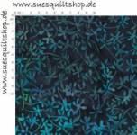 Island Batik Cotton Jewel Shimmer Blüten blau türkis violett
