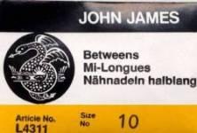 John James Quiltnadeln Betweens No. 10 große Packung (25 stk.)