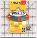 Olfa Frosted Ruler   4.5x4.5 INCH Antirutsch-Lineal mit schwarzen Linien auf milchigem Kunststoff