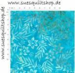 Timeless Treasures Tonga Batik Hard Candy turquoise Blätter Blüten türkis