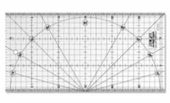 Olfa Frosted Ruler 15 x 30 CM, Antirutsch-Lineal mit schwarzen Linien auf milchigem Kunststoff