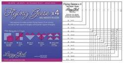 Flying Geese X 4 (TM) No Math Ruler