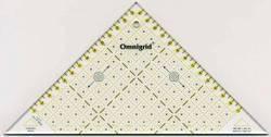 Omnigrid Lineal Flottes Dreieck 15 cm für 2 Dreiecke aus einem Quadrat, Half Square Triangles 915