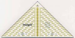 Omnigrid Lineal Flottes Dreieck 20 cm für 4 Dreiecke aus einem Quadrat, Quarter Square Triangles 920