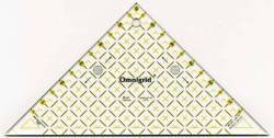 Omnigrid Lineal Flottes Dreieck  6 inch, für 2 Dreiecke aus einem Quadrat, Half Square Triangles R96