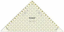 Omnigrid Lineal Flottes Dreieck  8 inch, für 2 Dreiecke aus einem Quadrat, Half Square Triangles R96L