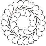Schablone  8 inch Feathered Wreath Federkranz