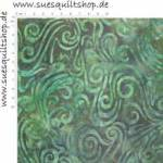 Batavian Batiks Dark Green Swirly Waves Batik Schnörkel Wellen grün