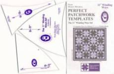 Perfect Patchwork Templates Winding Ways Template Schablonen 11 inch