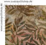 Robert Kaufman Artisan Batik Bali Cornucopia autumn, Blätter moosgrün ocker auf rosé bläulich ocker