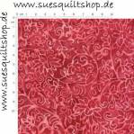 Timeless Treasures Tonga Batik Red Tonal Leaves, Ranken u. Blüten rot