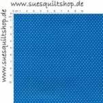 Santee Pin Dots Punkte weiss auf royalblau