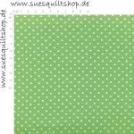 Lakehouse Sunrise Punkte weiss auf apfelgrün