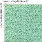 Henry Glass 1930s Green Monotone Daisy Blümchen grün weiss