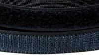 Klettband, 25 mm breit, schwarz, zum Aufnähen