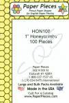 Papierschablonen Honeycombs 1 inch, ca. 100 stk.