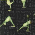 Kaufman Back in 5 Minutes Frogs, Yoga Frösche auf holzkohle-schwarz