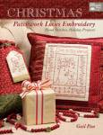 Christmas Patchwork Loves Embroidery Hand Stitches, Holiday Projects