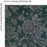 David Textiles Black Parisian Floral Blumen schwarz