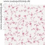 Penny Rose Fabric English Rose zarte Rosen rosa auf creme
