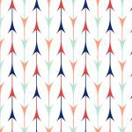 3 Wishes Fabric Pachua White Arrows, Pfeile bunt auf weiss