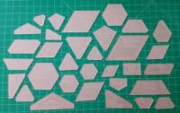 Acrylschablonen The New Hexagon Hexagon Template Set 32 pieces