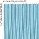 Benartex Christine Streifen hellblau-blau-weiss