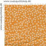 RJR Pie Making Day Flour Sack Orange Flower Blümchen orange