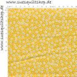 RJR Pie Making Day Flour Sack Yellow Flower Blümchen gelb