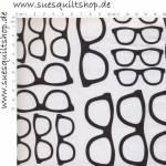 RJR Geekery Brillen schwarz auf weiss
