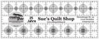 Creative Grids Antirutsch-Lineal  2.5 x 6.5 inch *25 Jahre Sues Quilt Shop*