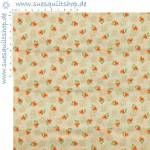 Daiwabo Ds Selection Patchwork Basic 1930s Blümchen orange