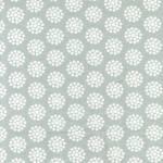 REDUZIERT: Benartex Grey Dot Flower Tea Towel - Geschirrhandtuchstoff, seitlich gesäumt