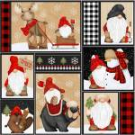 Henry Glass Multi Gnomes Patchwork Rapport 59,5 cm