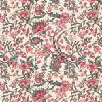 Jane Austen At Home Elizabeth große Blumen rosa petrol auf creme