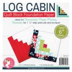 Log Cabin Foundation Paper 6 inch Block