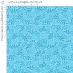 Quilting Treasures Cotton Leaf Turquoise Blätter türkis