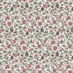 Jane Austen At Home Elinor kleine Blumen rosa petrol auf creme
