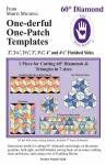 Perfect Patchwork Templates One-derful One Patch 60 Degree Diamond