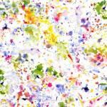 Windham White/Multi Paint Splatter Rückseitenstoff überbreit, Farbspritzer multicolo